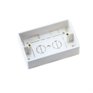 Professional 120 Type Network Cable Faceplate 1 Port Surface Mount Box White / Ivory