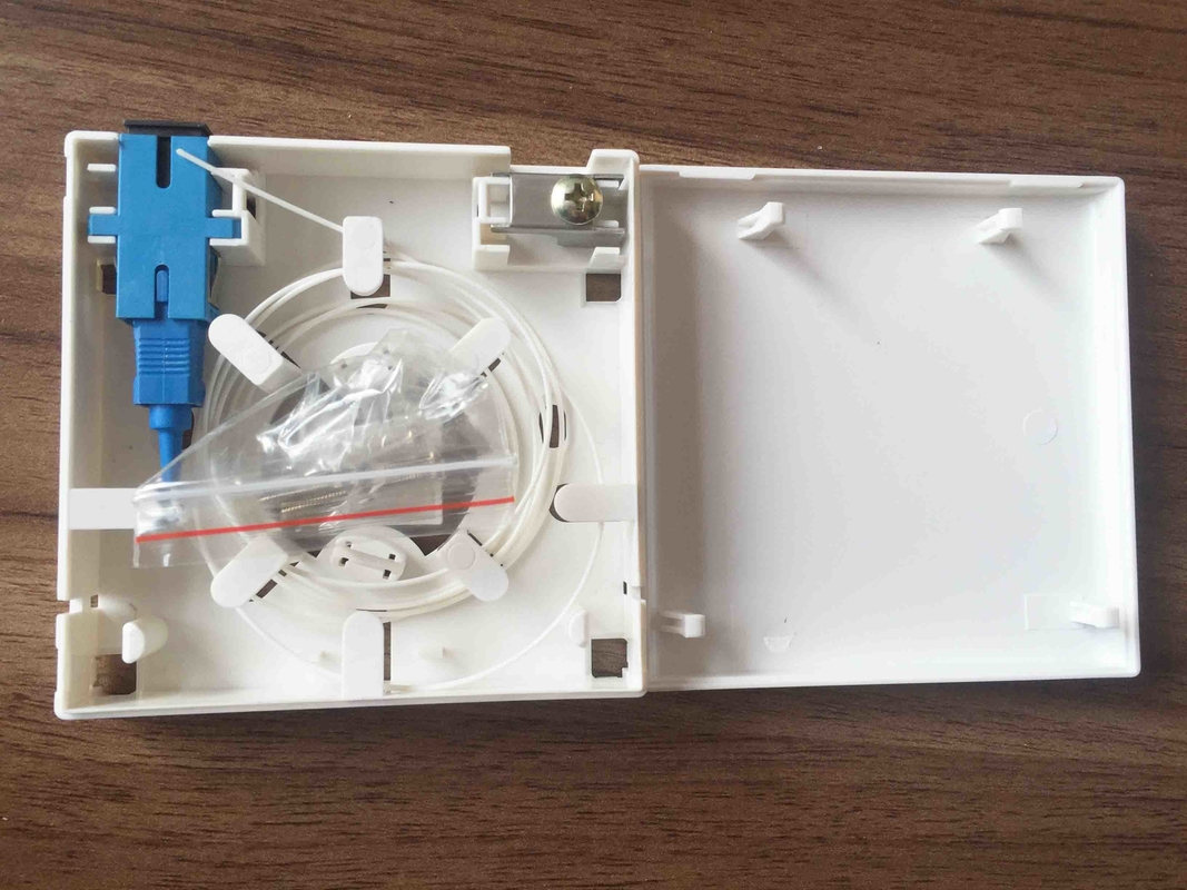White ABS Material Optical Distribution Box 2 Ports Fiber Optic Faceplate
