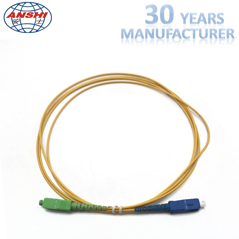2.00m 1 Meter Simplex Single Mode Fiber Patch Cables SC / UPC - SC / APC