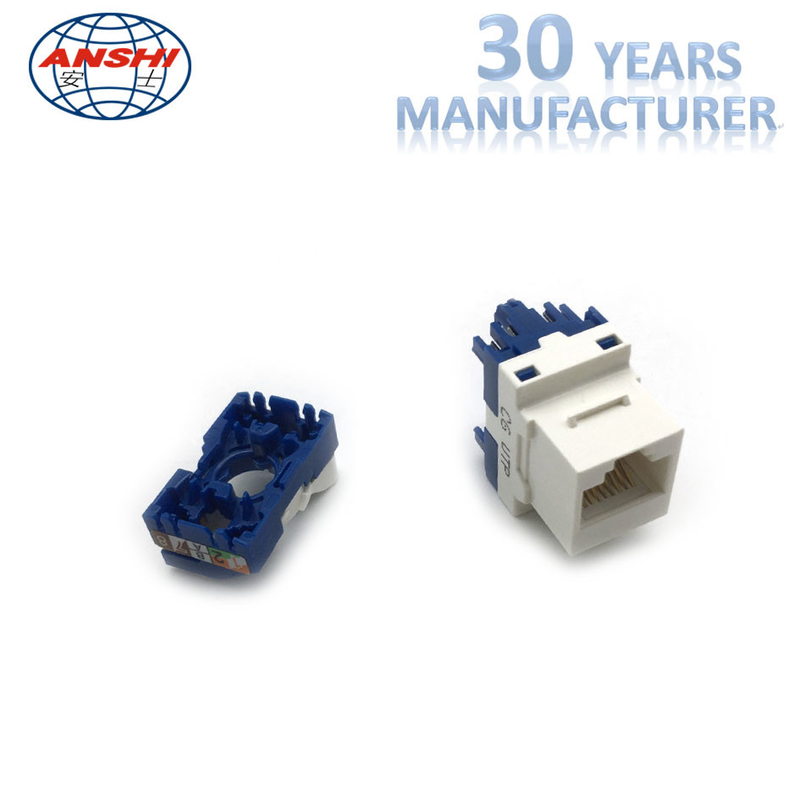Toolless UTP Rotation RJ45 Keystone Jack CAT5E CAT6 Gold Plating