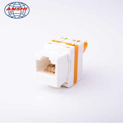 A agulha trapezoide do bronze de fósforo do ABS RJ45 Jack AS-KEY-D9E personaliza a cor